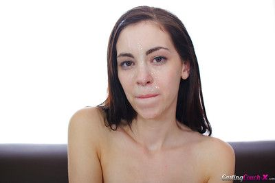 Hardcore amateur fuck scene with a skinny infant cowgirl Hannah Hartman