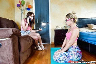 Teen schoolgirl Goldie Rush taking  on glasses after catfight