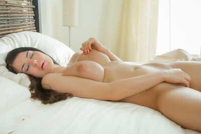 Sleeping amateur wakes up to her girlfriend desiring lesbo sex