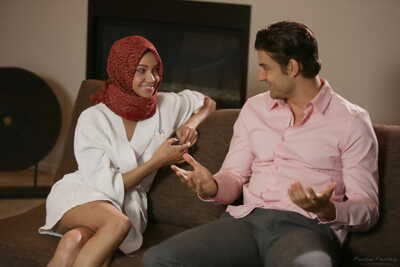 Sweet looking Arab girl Cadey Mercury wishes to excite Jay Smooth