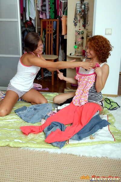 Juvenile swarthy girls eat a trickling creampie after banging a hung white boi