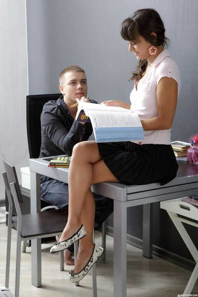 Euro schoolgirl Shrima screws her bf instead of studying her textbooks