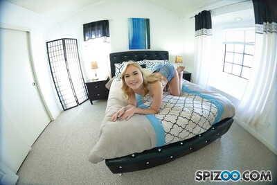 Sassy blond Alyssa Cole goes all gonzo on her boyfriends hard dick