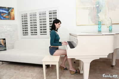 Banging Alex Harper after her piano lesson in multiple poses