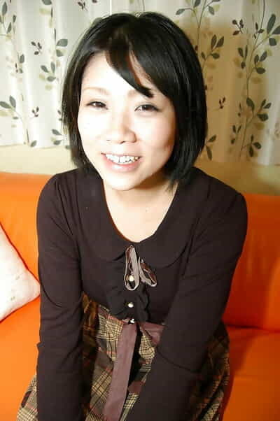 Playful oriental babe Shinobu Yabe erotic dance down and teasing her furry cage of love