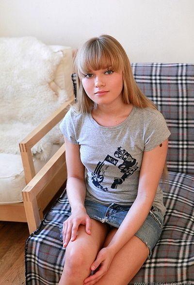 Short denim short skirt on teen in erotic dancing and masturbation gallery
