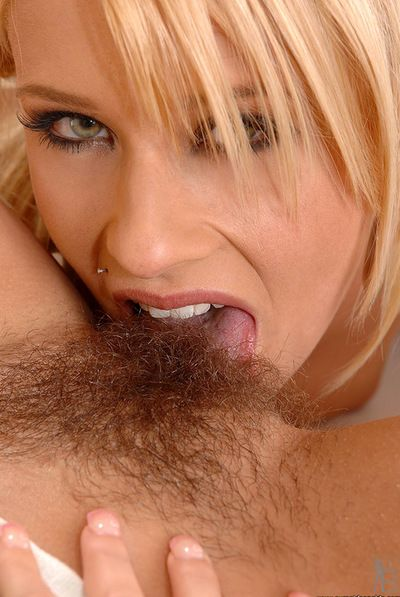 Young and winning minx Zuzana Z is masterfully licking her babes hairy love tunnel