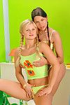 Having her holes drilled in naughty ways makes pretty to enjoys woman-on-woman softcore