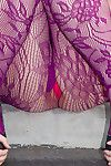 Lindsay Naked has a untamed pair of nylons on and loves posing her untamed red panties in duration