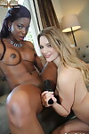 Stunning Jasmine Webb & Kenna James enjoying interracial girl-on-girl scissoring