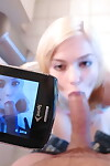 Tricky guy with webcam cheats on GF with her tiny roommate Chloe Foster