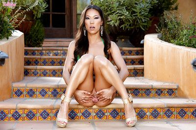 Oriental lass with small forms, Kalina Ryu, teases by amplifying the cage of love