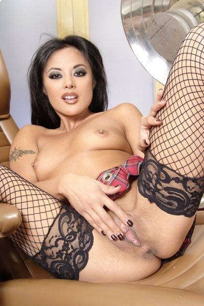 Eastern in  Kaylani Lei is entertaining with undressed muff and milk cans