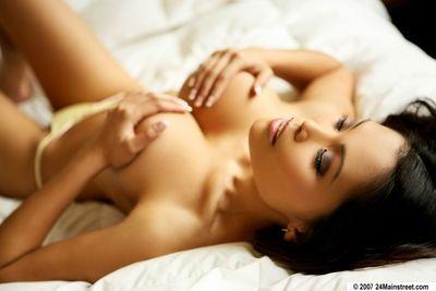 Underware porn instance Maya Simone shows her complete Oriental massive titties
