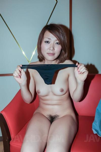 Elegant Oriental girl with short hair Rui Javhd sucks and rides a burly weenie on mattress