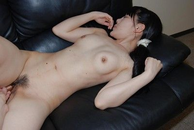 Oriental courtesan with brown hair Ruriko Furuse has her snatch bonked