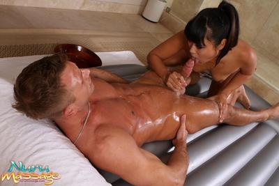 The stimulating Oriental queen Yuki Mori zealously washing and taking in the severe jock