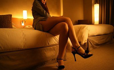 Beautiful Chinese gal in wild heels Yukari Endo enjoys in striptease and teasing on daybed