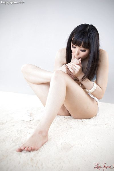 Juvenile Japanese Japanese pretty in  undressing to engulf her as was born toes