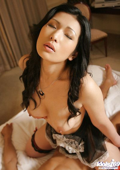 Enjoyable eastern vixen Chinami Sakaisaki gives head and accepts slammed