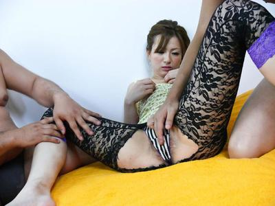 Japanese girl Yukina Momose is at her most excellent in orgy with a bunch of unforgiving toys