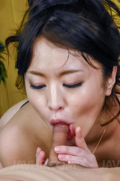 Beautiful Oriental chicito with immense milk sacks Kaede Niiyama enjoys in swallowing rough weenies