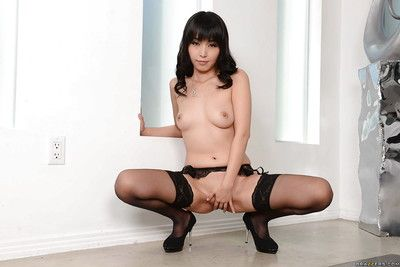 Dominant Chinese dear case Marica Hase posing solo in stocking and heels