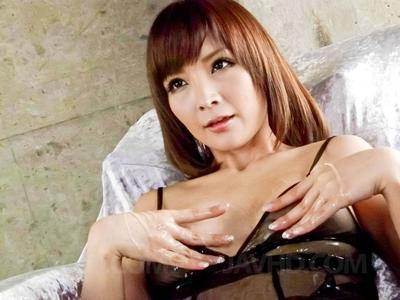 Heavy eyed Eastern Riona Suzune wears untamed underclothes although giving fellatio fucking action submission and..