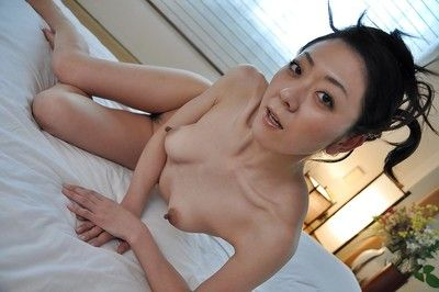 Surprising brunette hair Saeko Kojima is demonstrating her Eastern miniature pantoons