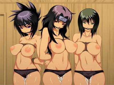 Naruto Sasuke and Sakura made a untamed  hentai gangbang
