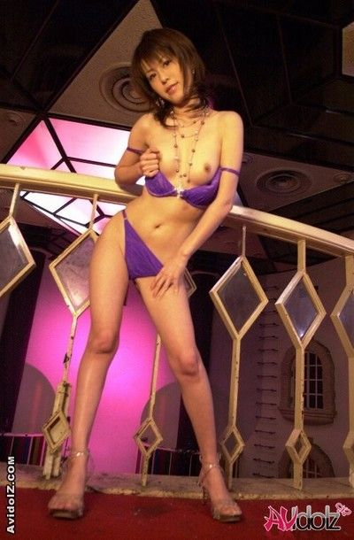 Marvelous Chinese bombita Ai Himeno is teasing with diminutive bikini and miniscule bra buddies images