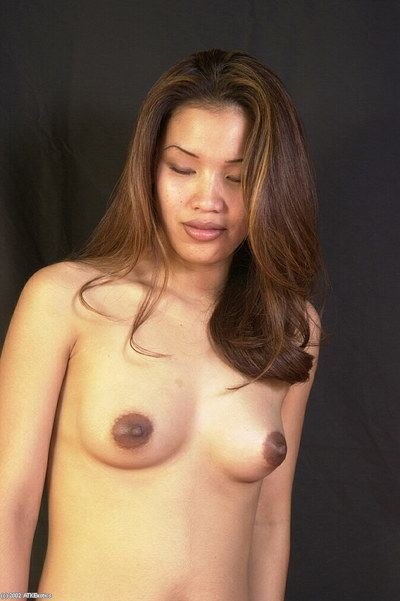 Chinese adolescent Nina undressing to play with dick excited twat in the naked