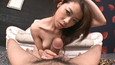 Passionate Eastern Maki Hojo gives a footjob and shows off her oral-job games expertise