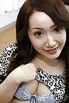 Charming oriental amateur Makoto Mukai undressing and stretching her underside lips