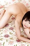 Purely legal Eastern Yui Kawagoe modeling without clothes in her bedroom