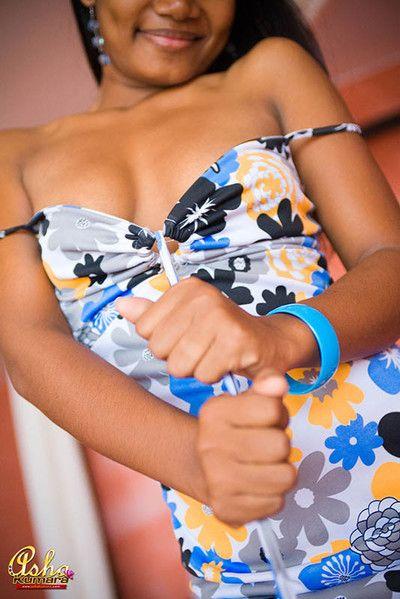 Asha kumara perchance shows her nipple in a sundress