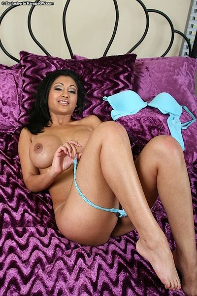 Superb indian MILF in lingerie abbreviated will not hear of huge jugs added to succulent twat