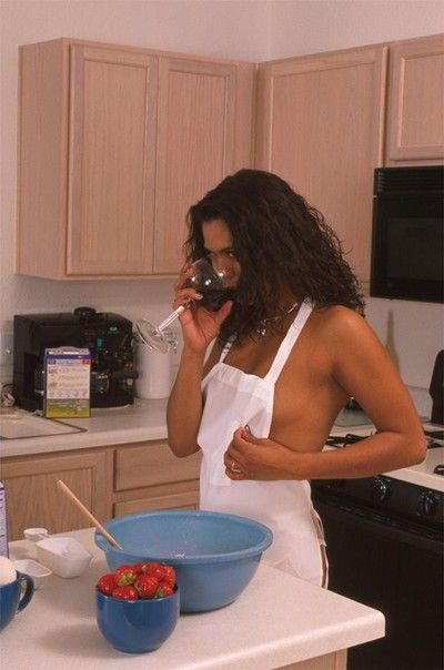 Naughty indian housewife masturbating with a broad in the beam jelly dildo