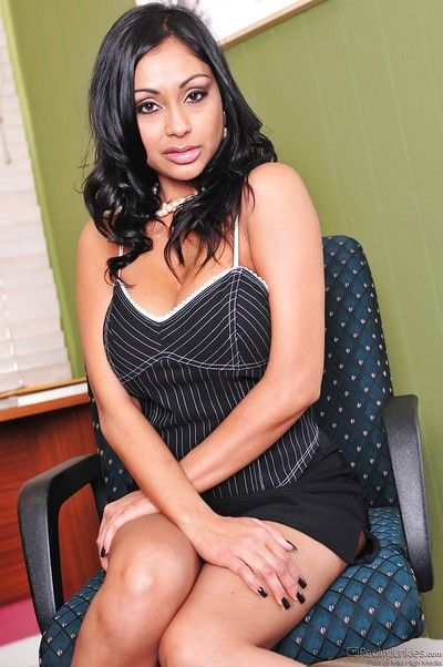 Curvy indian MILF Priya Rai rapine added to spreading will not hear of trotters