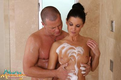 The libidinous milf India Summer gets foamed and intensely fucked in the pussy