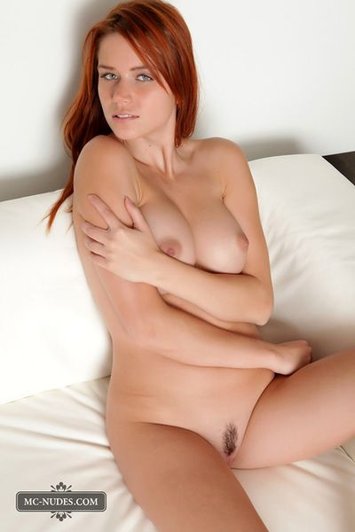 A nice strip of hair guides you to along to young pussy of along to titillating redheaded girl